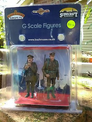 Bachmann 22-182 G scale figure Embarking Soldiers WW1 British BNIB