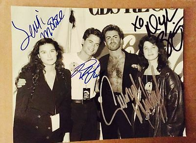George Michael Signed Photo W/ Rob Lowe Demi Moore Daphne Zuniga- collector item