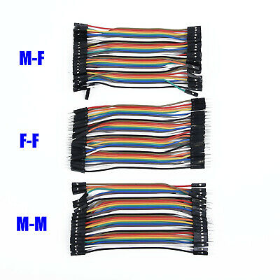 120Pcs Male to Female Dupont Wire Jumper Cable Connector for Arduino Breadboard