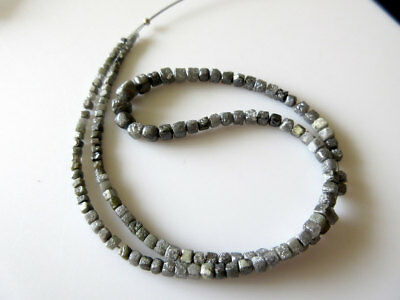 5.5mm to 2.5mm Natural Gray Raw Diamond Uncut Box Beads 16 Inch Strand DDS240/1