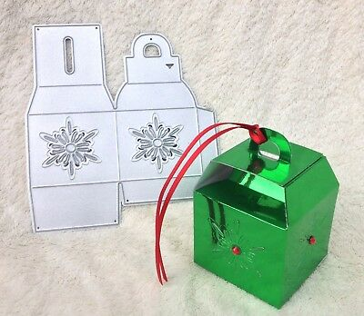 Christmas or Wedding Favour Gift Box  3D Cutting Die fits Sizzix Big Shot