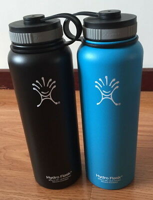 2PC New 40 oz Hydro Flask Insulated Stainless Steel Water Bottle Wide Mouth