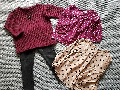 Girls Clothing Bundle Zara Tunic Dress /Leggings/Next /H&M Top/Blouses 3-4yrs