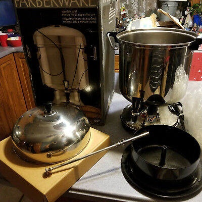 Farberware 155C Stainless Steel Coffee Urn 55Cup Commercial Percolator Automatic