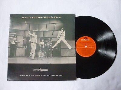 the who. Who's Better,Who's Best Vinyl album