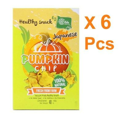 X 6 Healthy Snack Japanese Pumpkin By Melon Products Group 40g