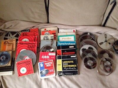 Job Lot Assorted Reel To Reel Tapes BASF Philips Grundig Agfa Ferrograph Ampex