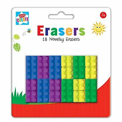 Kids Lego Erasers in the shape of a Lego Brick Kids Party Bag Filler School
