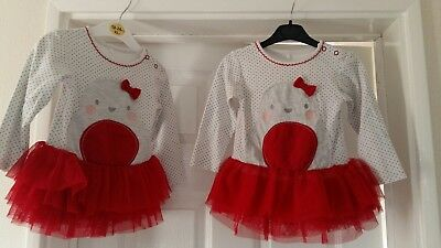 Girls Christmas top 18 -24 months ideal for twins