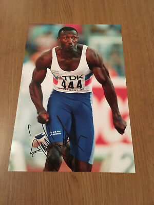 Linford Christie Athletics Legend 100M Olympic World Authentic Hand Signed Photo