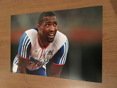 Darren Campbell Athletics 100M Olympic Champion Authentic Hand Signed Photo