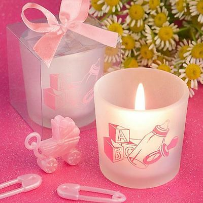 Set of 6 Baby Girl Themed Candles Favors Baby Shower Christening Favors Gifts