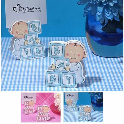 6 Oh How Cute Baby Block Place Card Holder Baby Showers Christening Favors Gift