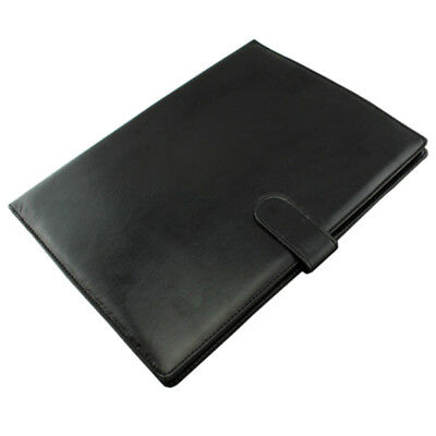 A4 Zipped Conference Folder Business Faux Leather Document Organiser WS N2J4