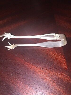 1835 R Wallace A1 Antique Silver Plated Ice/Sugar Cube Tongs.