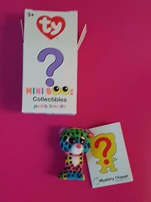 TY Beanie Boos - Mini Boo Figures - DOTTY the Rainbow Leopard (2 inch) *Chase*
