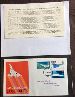 GB Concorde. First Day Cover. March 1969.