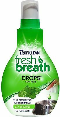 Fresh Breath ~ 3 Drops In Water Bowl! Tropiclean ~ For Dogs & Cats
