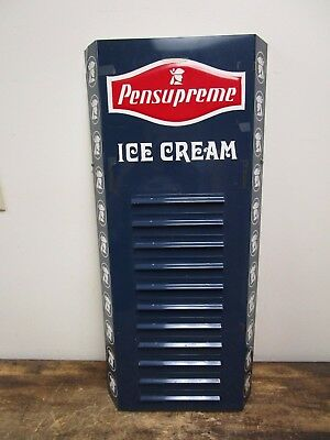 Original Pensupreme Ice Cream Store Menu Metal Sign