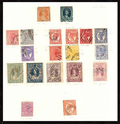 Stamps ~ QUEENSLAND State AUSTRALIA ~ Early SOME HIGH VALUES