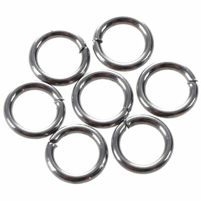 500 Stainless Steel Open Jump Rings 5mm Dia. M9G6 O5Y2