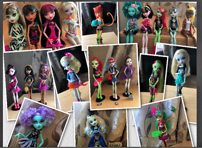 Various Monster High Dolls..Honey, Draculaura, Clawdia, Ghoulia, Venus etc