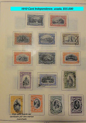 Chile 1910 Good set of Very Fine used stamps