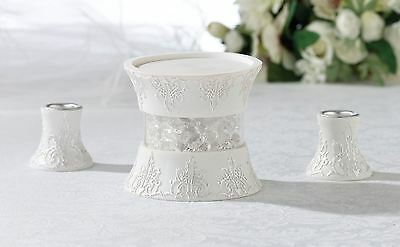 3 Piece Candle Holder Set Ideal For A Wedding Ceremony