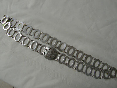 Antique Siam Silver Belt, 70% Silver, 36 Inches Long, 170 grams, No Reserve!