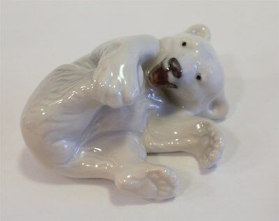 "Royal Copenhagen Porcelain Polar Bear, Playing 2.5"" #1020-072 w/Original Box"