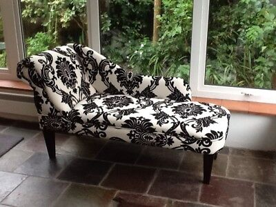 Chaise Lounge In Stunning Black And White