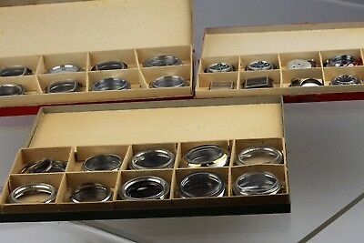 Stock 20pcs watch parts cases dial swiss made NOS for mechanical/quartz movement