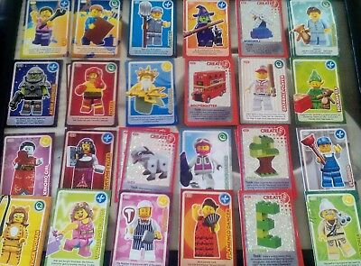 LEGO CARDS SAINSBURYS CREATE THE WORLD Card./ CHOOSE YOUR OWN 10!!