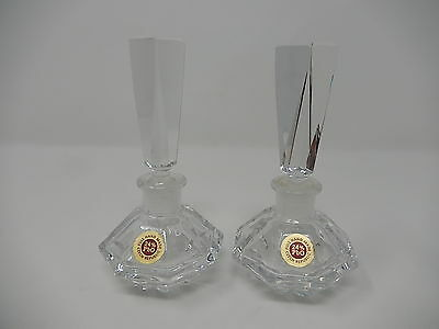 Pair of Flask ,bottle crystal for perfume
