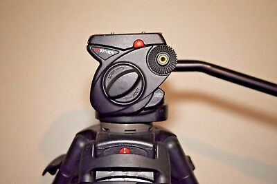 Manfrotto 501HDV head with Manfrotto 525MVB legs & bag