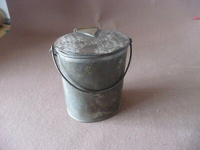 Antique early 20th century tin milk dairy can