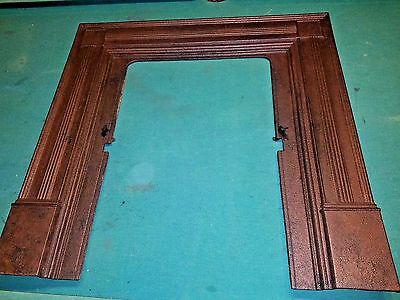 Antique Cast Iron Fireplace Mantel Surround Victorian ARCHITECTURAL SALVAGE WOW