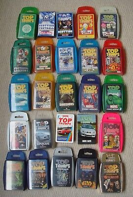 Top Trumps Bundle, 25 Packs in Total, Star Wars, Lord of the Rings, Gumball, etc