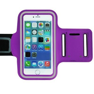 Sports Gym Running Cycling Arm Band Case Bag Go out for iPhone 5/5s Purple