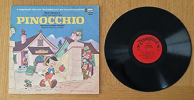 Walt Disney's Story And Songs From Pinocchio (3905) 1969 picture book album