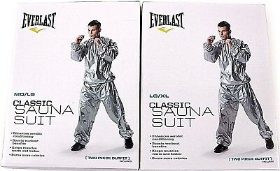 Everlast Silver Super Sweat Sauna Suit Fitness Training Boxing Gym 2 Sizes