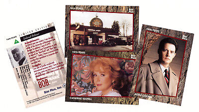 1991 Star Pics Twin Peaks trading cards set - 76 cards in special box