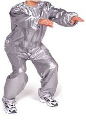 Everlast Large Silver Super Sweat Sauna Suit Fitness Training Boxing Gym Workout