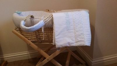 Hush Little Baby Moses Basket With Stand *excellent Condition*