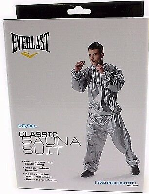 Everlast Medium Silver Super Sweat Sauna Suit Fitness Training Boxing Gym Unisex
