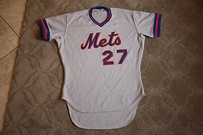 1980's New York Mets game used jersey minor league jersey size 44