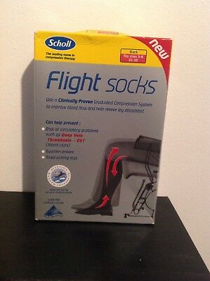 Scholl Flight Socks Size 3-6 Shoe In Black