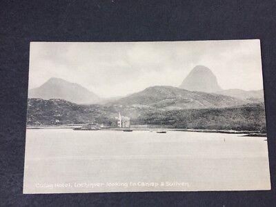 Vintage Postcard Culag Hotel Lochinver Looking To Canisp & Suliven Scotland