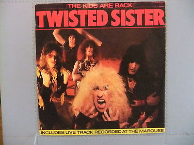 Twisted Sister - The Kids Are Back - 45rpm vinyl record