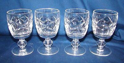 Waterford Kerry 4 Port Wine Goblets